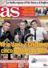Portada diario AS del 12 de Enero de 2011