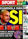 Portada diario Sport del 15 de Enero de 2011