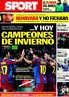 Portada diario Sport del 16 de Enero de 2011