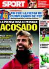 Portada diario Sport del 19 de Enero de 2011