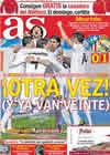 Portada diario AS del 21 de Enero de 2011