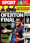 Portada diario Sport del 21 de Enero de 2011