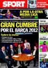 Portada diario Sport del 22 de Enero de 2011