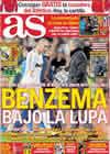 Portada diario AS del 23 de Enero de 2011