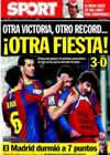 Portada diario Sport del 23 de Enero de 2011