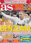 Portada diario AS del 24 de Enero de 2011
