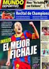 Portada Mundo Deportivo del 24 de Enero de 2011