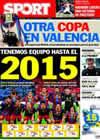 Portada diario Sport del 28 de Enero de 2011