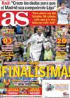 Portada diario AS del 3 de Febrero de 2011