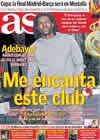 Portada diario AS del 4 de Febrero de 2011