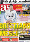 Portada diario AS del 8 de Febrero de 2011