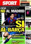 Portada diario Sport del 11 de Febrero de 2011