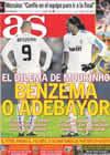 Portada diario AS del 12 de Febrero de 2011