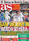 Portada diario AS del 14 de Febrero de 2011