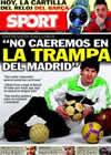 Portada diario Sport del 19 de Febrero de 2011