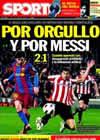 Portada diario Sport del 21 de Febrero de 2011