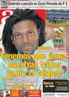 Portada diario AS del 22 de Febrero de 2011