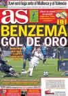 Portada diario AS del 23 de Febrero de 2011