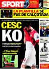 Portada diario Sport del 24 de Febrero de 2011