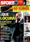 Portada diario Sport del 25 de Febrero de 2011