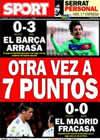 Portada diario Sport del 27 de Febrero de 2011