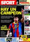 Portada diario Sport del 28 de Febrero de 2011