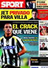 Portada diario Sport del 1 de Marzo de 2011