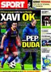 Portada diario Sport del 2 de Marzo de 2011