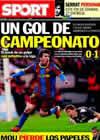 Portada diario Sport del 3 de Marzo de 2011