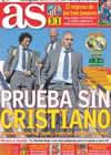Portada diario AS del 6 de Marzo de 2011