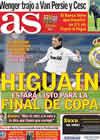 Portada diario AS del 8 de Marzo de 2011