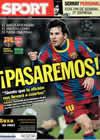 Portada diario Sport del 8 de Marzo de 2011