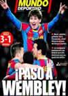 Portada Mundo Deportivo del 9 de Marzo de 2011