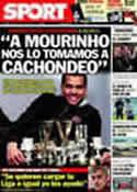 Portada diario Sport del 12 de Marzo de 2011