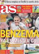 Portada diario AS del 13 de Marzo de 2011