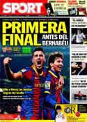 Portada diario Sport del 13 de Marzo de 2011