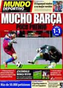 Portada Mundo Deportivo del 14 de Marzo de 2011