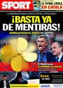 Portada diario Sport del 15 de Marzo de 2011