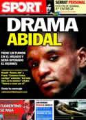 Portada diario Sport del 16 de Marzo de 2011