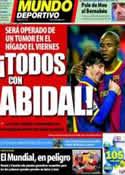 Portada Mundo Deportivo del 16 de Marzo de 2011