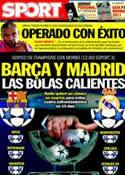 Portada diario Sport del 18 de Marzo de 2011