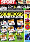 Portada diario Sport del 19 de Marzo de 2011
