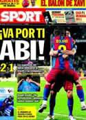 Portada diario Sport del 20 de Marzo de 2011