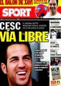 Portada diario Sport del 21 de Marzo de 2011