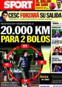 Portada diario Sport del 22 de Marzo de 2011