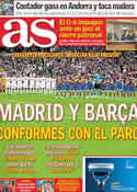 Portada diario AS del 24 de Marzo de 2011