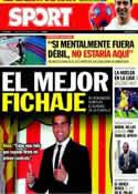 Portada diario Sport del 24 de Marzo de 2011
