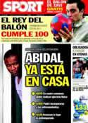 Portada diario Sport del 25 de Marzo de 2011
