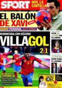 Portada diario Sport del 26 de Marzo de 2011