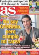Portada diario AS del 27 de Marzo de 2011